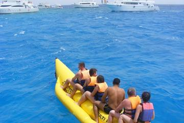Glass-Bottom Boat snorkeling and Banana Boat Utopia island