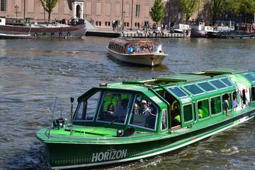 行列をスキップ:アムステルダム運河クルーズとハ…