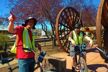 Excursão de bicicleta guiada histórica no centro de Flagstaff