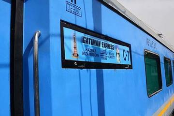 同日、Gatimaan Express列車でのアグラツアー