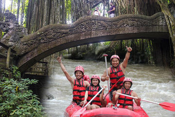 Full-Day River Rafting with Monkey Forest Tour