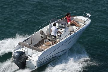 Rent a open-hull boat for up to 8...