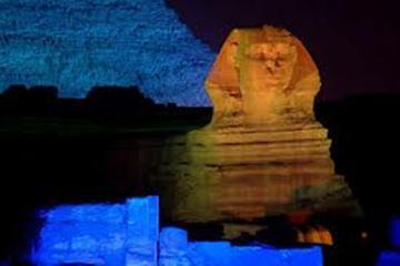 Ton- und Lichtvorstellung mit Pyramiden und Sphinx von Gizeh