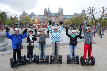 In einer kleinen Gruppe Segway-Tour durch Amsterdam