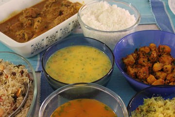 Enjoy an authentic South Indian meal...