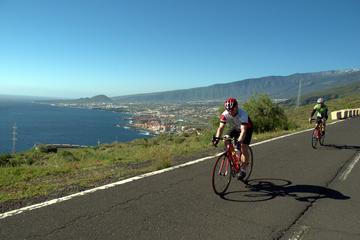 Recorrido en bicicleta por un sendero de la costa este de Tenerife