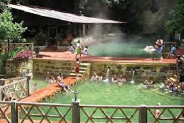 Quetzaltenango and Fuentes Georginas Hot Springs from Panajachel