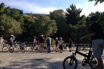 Gran tour turístico en bicicleta eléctrica de medio día por Atenas