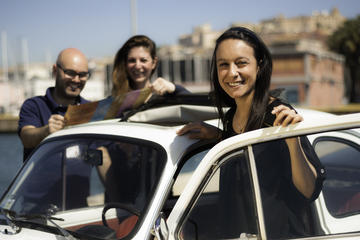 Visite de la ville de Cagliari en Fiat 500