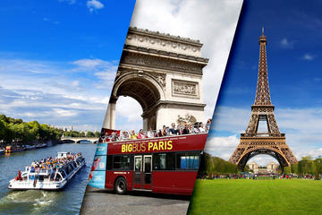 Skip the Line Eiffel Tower Hop-On Hop-Off Tour and Seine River Cruise