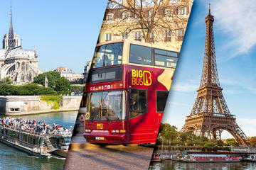 Skip the Line Eiffel Tower Summit Hop-On Hop-Off Tour and Seine River Cruise