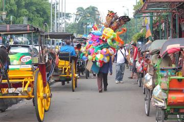 Fahrradtour am Vormittag durch das historische Viertel Kota Gede in...