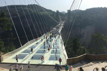 Private Day Tour of Tianmen Mountain Sky Walk And Zhangjiajie Grand Canyon Glass Bridge