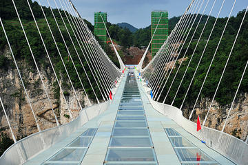 Private Tour of Zhangjiajie Grand Canyon Glass Bridge and Baofeng Lake