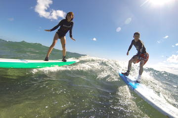 Day Trip Group Surf Lesson: Three Students Per Instructor at Kalaeloa Campgrounds near Ewa Beach, Hawaii