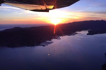 Flygtur i solnedgången i San Francisco