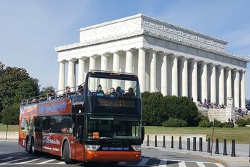 Hop-on-Hop-off-Tour plus Bonustour zu den Höhepunkten von Washington...