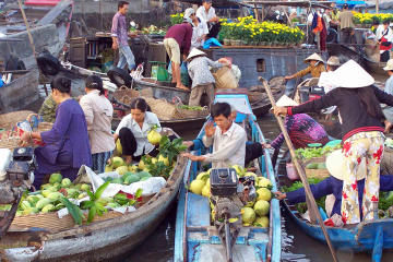 Cai Be Floating Market and Vinh Long...
