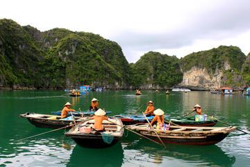 Crucero de un día en Halong a la cueva Thien Cung - aldea Ba Hang