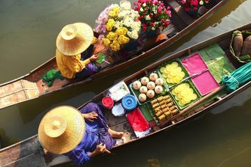 Damnoen Market, Grand Palace, and Wat...