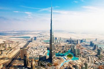 Tour di Dubai da Abu Dhabi, incluso l'ingresso al 124° piano del Burj