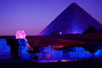 Pirámide de Gizeh espectáculo de luz y sonido desde El Cairo