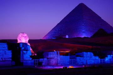 Show de Luzes e Som na Pirâmide de Gizé saindo do Cairo