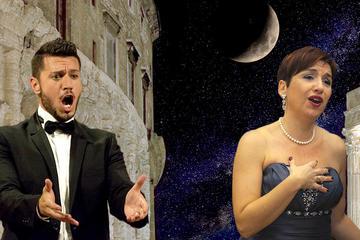 Opera-Serenaden bei Nacht in Rom im...