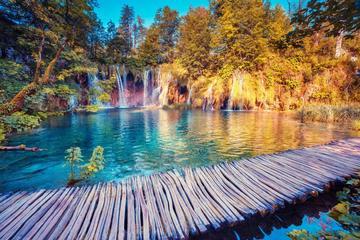 Impresionantes lagos de Plitvice y...