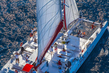 Bol and Brac Party Catamaran with Free Food and Drinks from Split