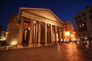 Tour privato: Tour serale a piedi di fontane e piazze di Roma, cena