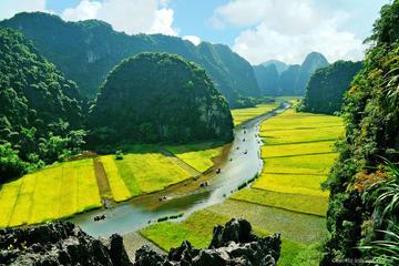 Excursion d'une journée en vélo et bateau à Hoa Lu et Tam Coc au...