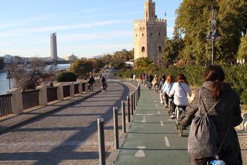 Visite en vélo à Séville en suivant le fleuve Guadalquivir