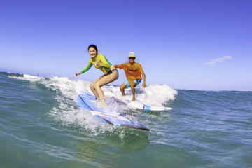 Surfing Lessons On Waikiki Beach