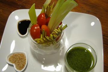 Lezione di cucina vegetariana in