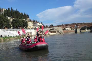 Verona: excursão de bicicleta e de rafting