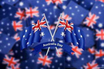 オーストラリア デー:ディナーと花火を楽しむシ…