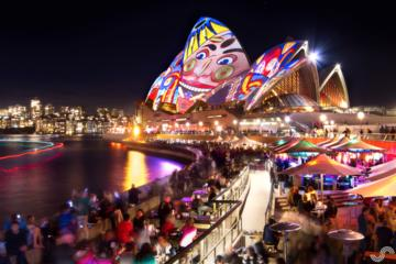VIVID Sydney Harbour Cocktail Dinner Cruise