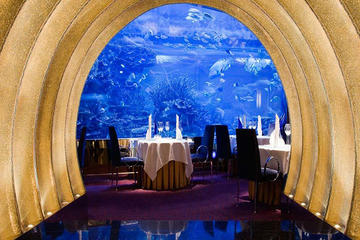 Cena gourmet al ristorante Al Mahara di Burj Al-Arab a Dubai con