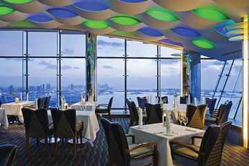 Diner in het Al Muntaha in Burj Al Arab met privévervoer