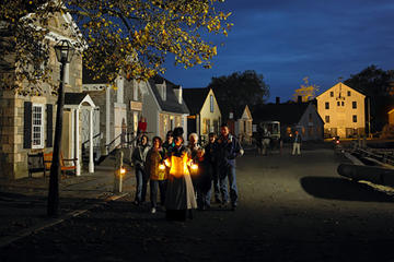 Day Trip New England Country Christmas With Mystic Seaport Lantern Tour near Manchester, New Hampshire