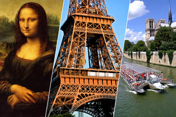 Evite las colas: Subida a la Torre Eiffel, museo del Louvre y crucero