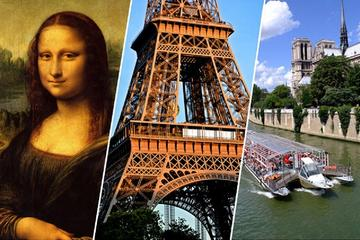 Skip the Line Eiffel Tower 2nd Level Tour and Louvre Museum and Cruise