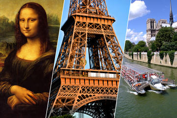 Skip the Line: Eiffel Tower Summit,Cruise & Louvre