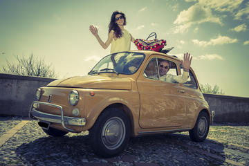 Half-Day The Godfather Film Locations tour by Vintage Fiat 500 from Taormina