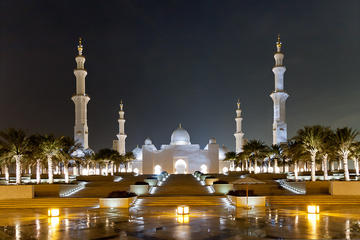 Tour della città di Abu Dhabi: moschea Sheik Zayed, Emirates Palace e