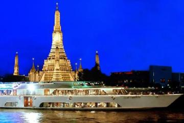 Bangkok: Grand Pearl-Bootsfahrt mit Abendessen und Transfers