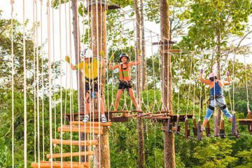 Zipline Adventures in Krabi Fun Park...