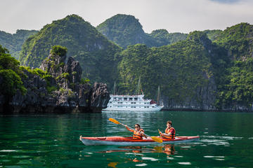 3-tägige Tour mit 2 Übernachtungen in der Halong-Bucht - Bootsfahrt...