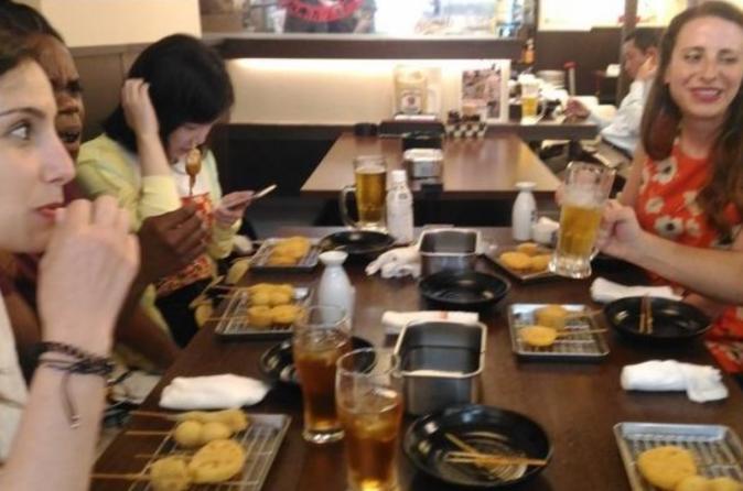Underground Osaka Foodie Adventure with Redlight district Visit